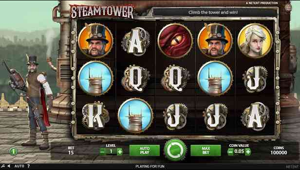 tragamonedas de 5 carretes steam tower